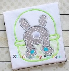 Bunny Bottom Basket Applique - 4 Sizes! | What's New | Machine Embroidery Designs | SWAKembroidery.com Stitch Away Applique
