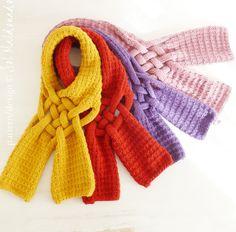 Knit Scarf PDF Pattern Weave PDF Knitting Pattern Woman