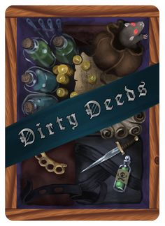 Dirty Deeds deck back design from Tavern Masters fantasy card game (Dirty Deeds Expansion) by Dann Kriss. Art by Galen Ihlenfeldt. Dann Kriss Games LLC ® All Rights Reserved The Expanse, Card Games, Masters, Deck, Fantasy, Artwork, Cards, Design, Master's Degree