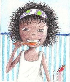 Alika se lava los dientes