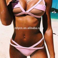 02915ec0783 Custom MLY New White Mesh High Waist Cut Shoulder Strap Bikini Sexy Swimwear  #exclusiveswimwear #