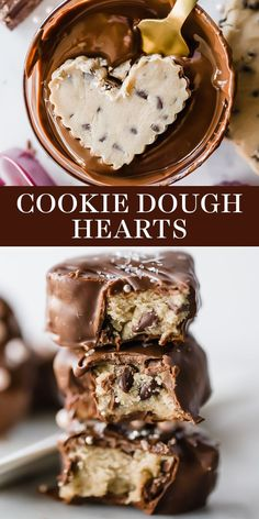 Valentine Desserts, Valentines Day Food, Baking Recipes, Cookie Recipes, Dessert Recipes, Cookie Dough Desserts, Cookie Dough Cake, Kreative Desserts, Chocolate Treats