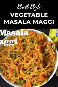 Puri Recipes, Spicy Recipes, Cooking Recipes, Veg Food Recipes, Veg Recipes Video, Noodle Recipes, Street Food India, India Food, Vegetable Masala