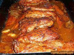 Friptura de Porc in Sos de Vin. Cu Cartofi Dulci (7)