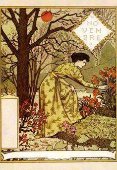 La Belle Jardiniere – Novembre - Eugène Grasset (1896)