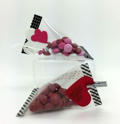 Stampin' Up! Valentine's treats using window sheets and washi tape