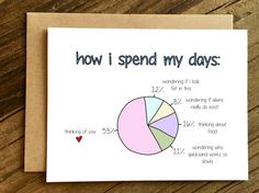 Mothers Day Gifts Diy Discover Funny Love Card - Funny Anniversary Card - Valentines Day Card - How I Spend My Days.