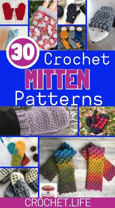 Crochet Mitten Patterns are just what you need to keep your hands warm this winter! You are in the right place about crochet purse Here we o Crochet Mittens Free Pattern, Loom Knitting Patterns, Crochet Patterns, Knitting Tutorials, Hat Patterns, Free Knitting, Free Crochet, Stitch Patterns, Quick Crochet Gifts
