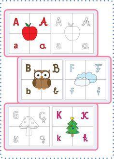 Betű-puzzle Alphabet Worksheets, Kindergarten Worksheets, School Staff, School Hacks, Diy For Kids, Homeschool, Classroom, Kids Rugs, Teaching