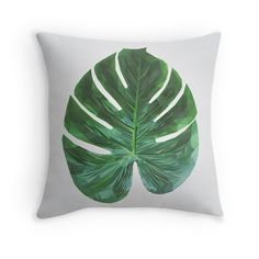 'Monstera Fern Leaf' Throw Pillow by houseofenigma Duvet, Bedding, Ferns, Master Bedroom, Leaves, Throw Pillows, Blanket, Down Comforter, Master Suite