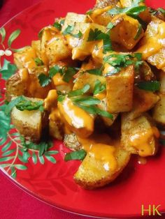 Patatas Bravas Asadas-Roasted Spanish-Style Potatoes| Hispanic Kitchen December 2015