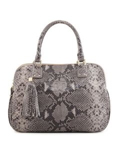 Tory Burch,  Thea Snake-Print Triple-Zip Tote Bag, Gray Opal | l was so lucky to get at Neiman Marcus...still in stock