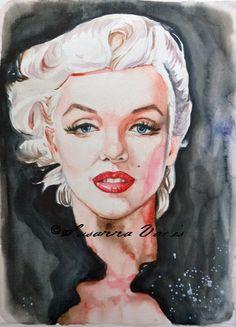 Marilyn platinum Blonde water colour 2015 Susanna Varis Marilyn Monroe