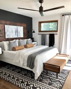 Home Interior Hallway styled master bedroom.Home Interior Hallway styled master bedroom Oak Bench, Home Bedroom, Bedroom Green, Bedroom Beach, Budget Bedroom, Bedroom Apartment, Silver Bedroom, Bedroom With Couch, Ikea Bedroom