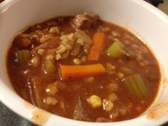 Clean Eating Beef & Barley Soup-freezer meal!!!