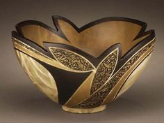 Textured Leaf bowl by Christine Colombarini
