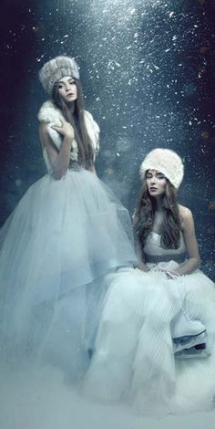 ♥ Romance of the Maiden ♥ couture gowns worthy of a fairytale -  Ines Di Santo Winter White Gowns / justbbeautiful.com