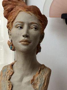 Sculpture Head, Sculptures Céramiques, Pottery Sculpture, Small Sculptures, Ceramic Figures, Clay Figures, Ceramic Art, Japanese Art Modern, Art And Hobby