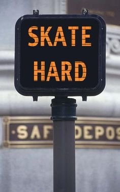 #horsecorpse #huntingtonbeach inline skating sign