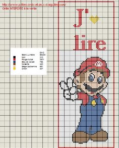 Voici un nouveau marque page de Mario en grille gratuite :