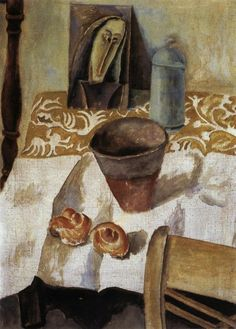 "Max Weber, ""The Egyptian Vase"", 1911, oil on canvas, 28""x20"""