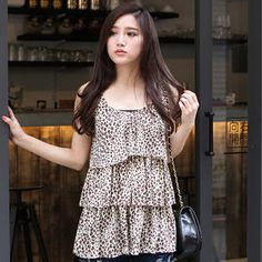 Leopard-Print Layered Tank Top from #YesStyle <3 eFashion YesStyle.com
