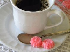 Peppermint Sugar Cubes - nice for the holidays.  Can mold them or have loose sugar ~