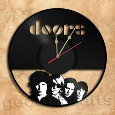 Wall Clock Doors Vinyl Record Clock via GeoArtCrafts. Click on the image to see more!