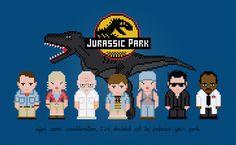Jurassic Park - PixelPower - Amazing Cross-Stitch Patterns http://www.pixelpowerdesign.com/shop/movies/product/show/398-jurassic-park
