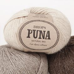 DROPS Puna is a soft, light and beautifully warm yarn made from superfine alpaca that's perfect for almost any kind of garment - and that feels wonderful. Drops Cotton Light, Drops Kid Silk, Drops Baby, Drops Karisma, Garnstudio Drops, Drops Delight, Drops Lima, Laine Drops, Drops Alpaca