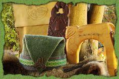 Graugrüne Rusmütze mit Brettchenborte