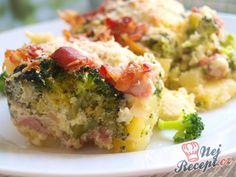 Zapékaná brokolice s bramborem, sýrem a česnekem | NejRecept.cz Food Art, Holiday Recipes, Quiche, Potato Salad, Mashed Potatoes, Food And Drink, Meals, Breakfast, Ethnic Recipes