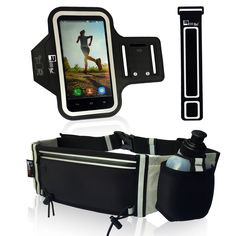 """Premium Armband + Running Belt for iPhone 6 6s 5 & Samsung Galaxy S7 S6 S5. Sports Arm Band Phone Case Holder for Men Women. ARMBAND + RUNNING BELT """"PREMIUM BUNDLE"""" - The No1 complaint with other running products is that sweat can damage your phone. NO MORE!! Our New ADVANCED Neoprene material will stop sweat from getting to your phone. Also the material is super Grippe and it will NOT fall down during exercise. Don't risk your $$$ Smartphone? Treat yourself to the very best TODAY!!. FITS..."""