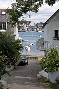 The harbour at Sainte Marine, Brittany, France by Strabanephotos, via Flickr