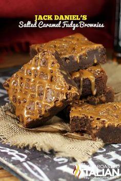 Donna Elick - Google+ - Jack Daniel's Salted Caramel Fudge Brownies {{Recipe link…