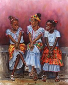 Art from St. Black Love Art, Black Girl Art, My Black Is Beautiful, Black Girls Rock, Art Girl, Black Art Pictures, Caribbean Art, Black Artwork, Afro Art