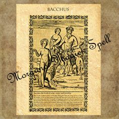 BACCHUS, Instant Download, Occult Symbol,Alchemy, Mythological,Clip Art, Digital Download, Occult Book of Shadows Page by MorganaMagickSpell on Etsy
