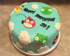 Angry Birds Birthday Cake Bird Parties Cakes For Boys Boy Toppings Gallery Fondant