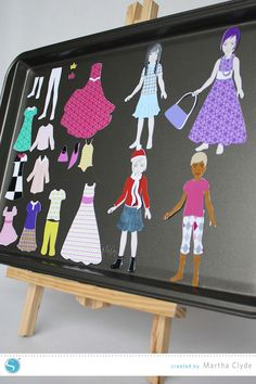 Silhouette America Blog | Magnetic Dress Up Dolls - a fun Silhouette CAMEO or Portrait project for kids! #Tutorial
