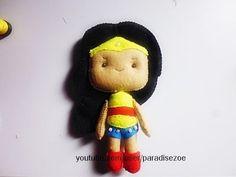 Tutorial Felt Craft/ Boneca Mulher Maravilha/ Doll/ Feltro - YouTube