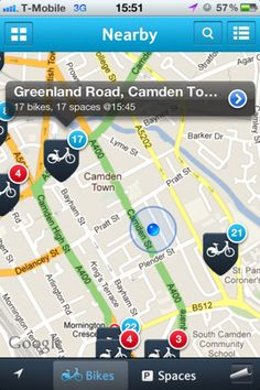 """FREE!  """"The new """"Barclays Bikes"""" app connects those on the go to the real London."""""""