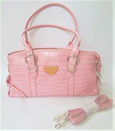 ed436a170220 Circle Strap Handbag - Light Pink. Faux leather