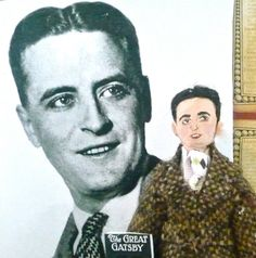 F Scott Fitzgerald Doll Miniature The Great by UneekDollDesigns, $43.00