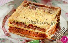 Λαζάνια με κιμά στο φούρνο | Dina Nikolaou