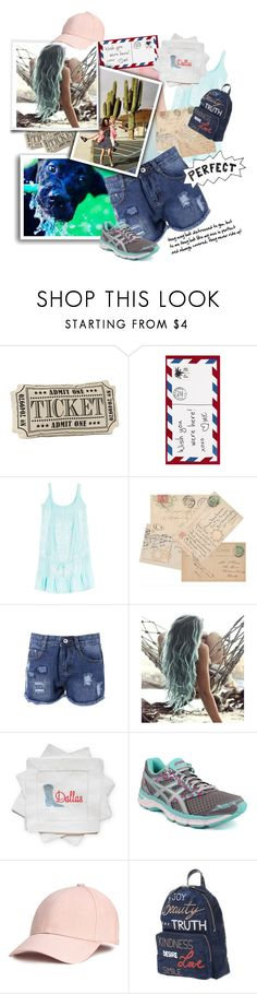"""perfection. juuust right"" by caroline-buster-brown ❤ liked on Polyvore featuring Pottery Barn, Melissa Odabash, Urban Outfitters, Draper James, Asics, RED Valentino and distresseddenim"