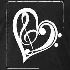 Treble clef & bass clef heart T-Shirts - Men's Premium T-Shirt