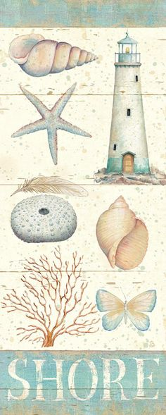 Pastel Coast Panel II Art Print by Daphne Brissonnet at Art.com