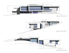 Gallery of House in Sabino Springs / Kevin B Howard Architects – 21 - Haus Ideen Casas Containers, Hillside House, Luxury House Plans, Architect House, Facade Design, Modern House Design, Interior Architecture, Ancient Architecture, Sustainable Architecture