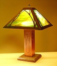Table Lamp - Art Nouveau Design, James Mattson Lighting, Mission Lighting
