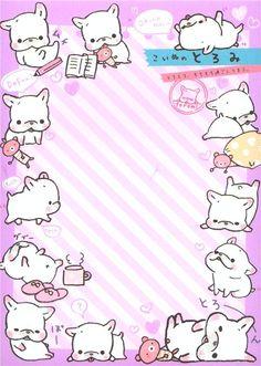 Toromi French Bulldog dog Note Pad San-X 5